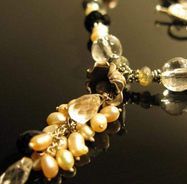 Halskæde med perle vandfald