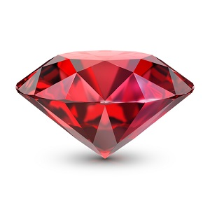 Ruby. 3d image.